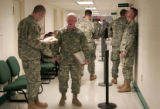 Members of the 43rd ASG (Army Support group) demobilizing from Iraq go through an extensive...