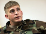 Sgt. Anthony Danser, 23 (cq) speaks about the PTSD that has debilitated him  into a medical ...