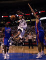 SIXR17--2/16/05--PHOTO BY MICHAEL PEREZ--DETROIT PISTONS AT PHILADELPHIA 76ERS--Sixers' Allen...