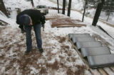{Boulder, Colorado.  March 25, 2005} HGTV Dream House Project.  Christopher Herr looks at the...