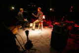 Co-host Nick Forster, right, interviews singer Chris Smither for the etown show at the Boulder...