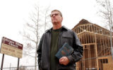 (LAKEWOOD, CO. MARCH 24, 2005) Grace Bible Church Pastor Troy Rininger (CQ. Troy Rininger), stands...
