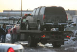 Suspect vehicle in the Darrent Williams shooting was located by Denver police near 38th and...