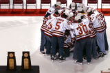 Denver, Colo., photo taken April 13, 2005-The '03-'04 and '04-'05 NCAA Hockey National...