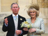 LON357 - britain's Prince Charles and Camilla Duchess of Cornwall  leave St Georges' Chapel,...