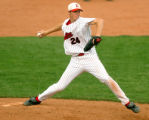 Eaton High School's Shane Dyer pitches in the 2006 state title game against Roosevelt High School...