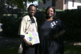 Calvin Evans (cq) 17, with his mother Sharletta Evans (cq) at their Aurora home on Wednesday May...