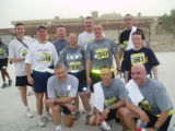Soldiers participated in their own version of the BolderBoulder in Baghdad, Iraq today (Sunday,...