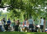Denver, CO May 28, 2006 In a scene being repeated in parks all over the city people picnic,...