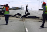 A dump truck wrecked on I-70 eastbound Tuesday morning May 30,2006. Eastbound traffic was shut...
