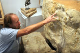 Professor Martin Lockley, Director of the Dinosaur Tracks Museum at CU Denver, describes what he...