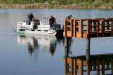 Thornton Fire Department search along a pier at the Sprat-Platte Lake Fishing Facility, Monday...