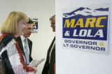 (L-R) Lt Gov. candidate Lola Spradley (cq) Rep. Governor candidate Marc Holtzman and former State...