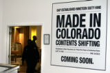 (DENVER, Colo., April 15, 2005) The GAP store is barricaded as it goes through a hush-hush...