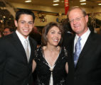 (Denver, Colo., May 25, 2006) Matt (son), Fran, and Ray (honoree) Baker.  The Mizel Museum Annual...