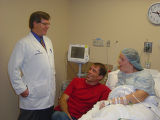 Susan and Joe talking with Susan's surgeon, Dr. Warren Kortz  Here are photos for Bill Scanlon's...
