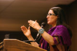 (DENVER, CO. APRIL 4, 2005) Author Sandra Cisneros (CQ. Sandra Cisneros) read from her latest book...
