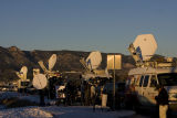 DM1518   Satellite trucks line the street outside New Life Church in Colorado Springs, Colo....