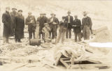 PHOTO CREDIT MUST READ:   Denver Public Library; Western History Collection  Coal miners, a boy, a...