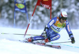 Daniel Albrecht  SUI skis the first of two runs in the Giant Slalom  race at the Charles Schwab...