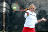 (ENGLEWOOD, CO. APRIL 19, 2005) Kent Denver School's No. 1 Tennis Singles Player Catherine Duboc...