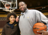 University of Wyoming Men's Assistant Basketball coach Shaun Vandiver and his daughter, Wyoming...