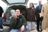 James Masters shows a jar, that was seized full of marijuana, no is empty . This jar and other...