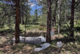 Campsite of Robert R. Amos (cq),44, located off FR 334A  about 17 miles southwest of Fairplay on...