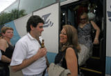 (NYT56) LA VINUELA, Spain -- JUNE 28,2007 -- SPAIN-SPOUSE-SCARCITY-4 -- A bus with 62 women on...