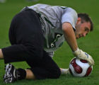 Artur Boruc, goal keeper, for team Celtic FC from the Scottish League Tuesday morning July 17,...