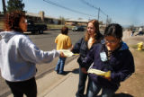 (COMMERCE CITY, APRIL 6, 2005) (LT. TO RT.) Nora Garcia (CQ. Nora Garcia), and fellow parent Juana...