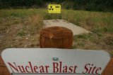 MJM680 Signs mark the spot of the Project Rulison Nuclear Explosive Emplacement Well on the...