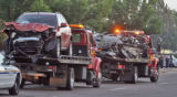A three-vehicle crash late Wednesday night killed three and closed southbound Chambers at...