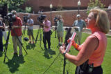 Aurora Police Detective Shannon Lucy (cq) during a press conference Thursdau July 5,2007...
