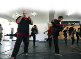 Bill and Jason train with students. Eskrima.