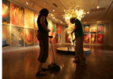 (Colorado Springs, Colo. shot on 4/18/05) Museum staff andrea Van Dorsten (cq) and Kenny Shaw...