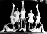 Fitness story about women's athletic apparel throughout the years.  Gym suits from the 1950s. The...