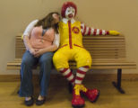 DLM0480  Lauren Crawford, 22, has volunteered at the front desk of the Ronald McDonald House in...