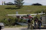CODER101-Traffic flows on C-470 above as authorities work to clean up a plane crash near S. Peoria...