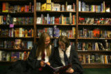 Portrait of Harry Potter fans Julia Davis (cq), left, 17, and Katie John (cq), right, 17, both of...