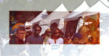 DLM0623  People attending the Cherry Creek Art Festival are reflected in one of artist Lisa...