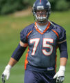 Adam Meadows at the Broncos final mini-camp at broncos Headquarters in Dove Valley in Centennial, ...