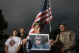 DLM1412  JoAnn Gillespie holds a photograph of her son Master Sgt. Randy J. Gillespie, 44, of...