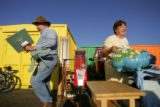 Rusty and Doris Morse (Cq) of Arvada pick out a few items that at the Mile High Flea Market on...
