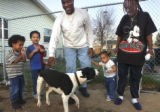Montebello, Colo., photo taken April 21, 2005-  Charmane Watson (far right) with her three...