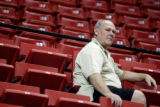 ***Special to the Rocky Mountain News*** Nuggets coach George Kari watches his son Coby Kari, who...