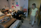 U.S. Army Staff Sgt. Matthew Keil and wife Tracy in their room where they have lived for over four...
