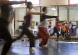 Marceline Freeman helps dancers rehears on Sept. 6, 2007, at the Cleo Parker Robinson Dance...
