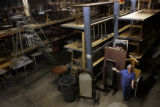 Robin Lu Payne, properties director for the Denver Center , stands in the warehouse where all the...