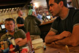 George Cizek owner of the New Prague Restaurant and Bruce Donato sit in Dontano's resturant the...